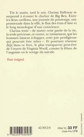 Mrs Dalloway - 4ème de couverture - Format classique