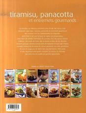 Tiramisu, panacotta et entremets gourmands - 4ème de couverture - Format classique