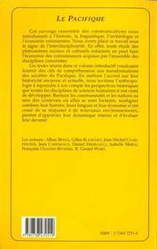 Pacifique (Le) Un Monde Epars - 4ème de couverture - Format classique