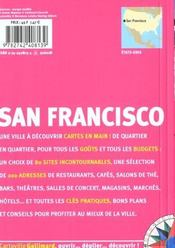 San Francisco - 4ème de couverture - Format classique