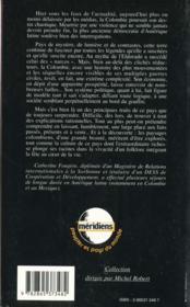 La Colombie - 4ème de couverture - Format classique