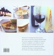Le fromage et ses recettes - 4ème de couverture - Format classique