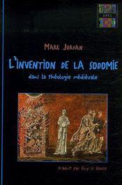 L'Invention De La Sodomie Dans La Theologie Medievale - Intérieur - Format classique