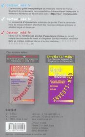 Docteur@Med.Fr ; Medecine Interne Du Symptome Au Diagnostic - 4ème de couverture - Format classique