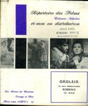 Revue De Cinema - Image Et Son - Hors Serie Adv 5 - Repertoire Des Films 16 Mm En Distribution - Couverture - Format classique