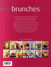 Brunches - 4ème de couverture - Format classique