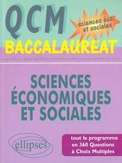 Qcm Baccalaureat Sciences Economiques Et Sociales Tout Le Programme En 360 Questions Choix Multiples - Intérieur - Format classique
