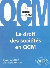 Le Droit Des Societes En Qcm - Intérieur - Format classique