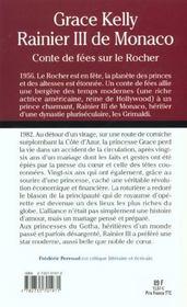 Rainier Iii De Monaco Et Grace Kelly ; Conte De Fees Sur Le Rocher - 4ème de couverture - Format classique