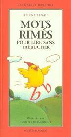 Mots Rimes Pour Lire Sans Trebucher - Intérieur - Format classique