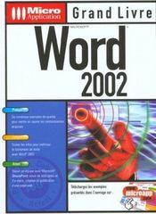 Grand Livre Word 2002 - Intérieur - Format classique