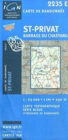 St-Privat, barrage du Chastang - Couverture - Format classique