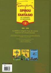 Spirou et Fantasio ; intégrale t.2 ; de Champignac au Marsupilami (1950-1952) - 4ème de couverture - Format classique