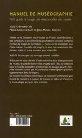 Manuel de muséographie ; petit guide à l'usage des responsables de musée - 4ème de couverture - Format classique