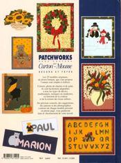 Patchworks Sur Carton Mousse - Decors Et Fetes T3 - 4ème de couverture - Format classique
