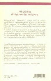 Problemes d'histoire des religions ; mises au point - 4ème de couverture - Format classique