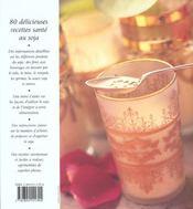 Soja santé ; cuisiner avec le soja - 4ème de couverture - Format classique