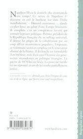 Napoleon Iii Ou L'Obstination Couronnee - 4ème de couverture - Format classique