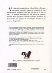 Le clown amoureux ; Roberto Benigni - 4ème de couverture - Format classique