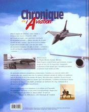 Chronique De L'Aviation - 4ème de couverture - Format classique