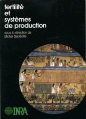 Fertilité et systèmes de production - Couverture - Format classique