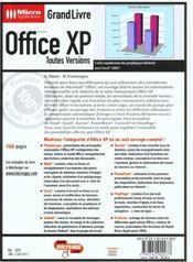 Grand Livre Office Xp - 4ème de couverture - Format classique