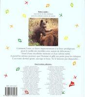 L'ours brun - 4ème de couverture - Format classique