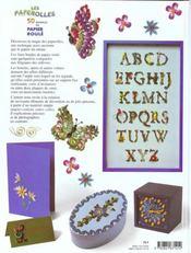 Paperolles : Cinquante Modeles En Papier Roule - 4ème de couverture - Format classique