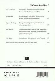 Philosophia Scientiae 2000 T4/1 - 4ème de couverture - Format classique
