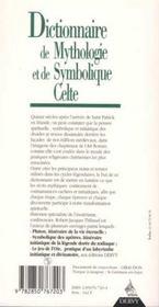Dictionnaire De Mythologie Et De Symbolique Celte - 4ème de couverture - Format classique