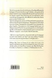 Le pacte de lumière - 4ème de couverture - Format classique