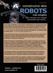 Construire des robots très simples ; qui rampent, roulent, marchent, sautent... - 4ème de couverture - Format classique