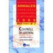 Decf N 7-Controle De Gestion-Acca 1999 - Couverture - Format classique