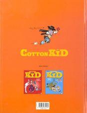 Cotton Kid t.3 ; Z comme sorro - 4ème de couverture - Format classique