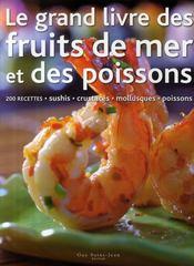 Le grand livre des fruits de mer et des poissons - Couverture - Format classique
