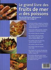 Le grand livre des fruits de mer et des poissons - 4ème de couverture - Format classique