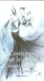 Costumes pour le cinema carnet de dessins - Couverture - Format classique