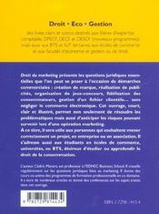 Droit Du Marketing - 4ème de couverture - Format classique