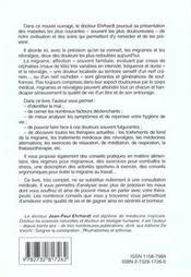 Soigner Le Mal De Tete - 4ème de couverture - Format classique