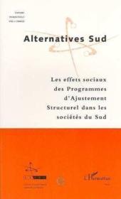 Effets Sociaux Des Programmes D'Ajustement Structurel - Couverture - Format classique