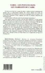 Sahel : Les Paysans Dans Les Marigots De L'Aide - 4ème de couverture - Format classique