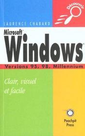 Microsoft Windows, versions 95, 98, Millennium - Intérieur - Format classique