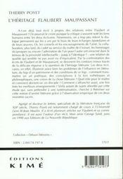 Heritage Flaubert Maupassant (L') - 4ème de couverture - Format classique