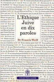 L'Ethique Juive En Dix Paroles - Intérieur - Format classique