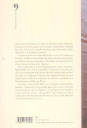 Livre - 4ème de couverture - Format classique