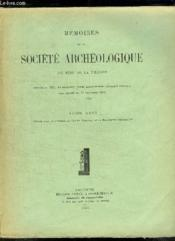 Memoires De La Societe Archeologique Du Midi De La France Tome Xxvi. - Couverture - Format classique