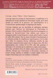 Electronique 3 Circuits Specialises De L'Electronique Actuelle Puissance Hyperfrequences - 4ème de couverture - Format classique