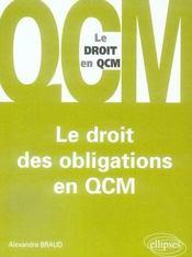 Les droit des obligations en QCM - Intérieur - Format classique