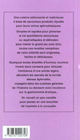 La cuisine aphrodisiaque - 4ème de couverture - Format classique