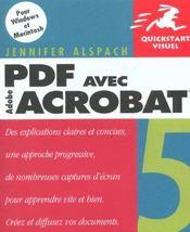 Peachpit Quickstart Visuel Pdf Acrobat 5 - Intérieur - Format classique